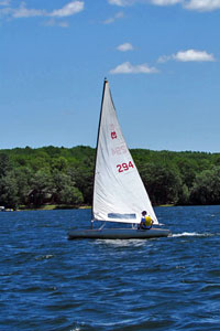 Sailing on Rice Lake, WI